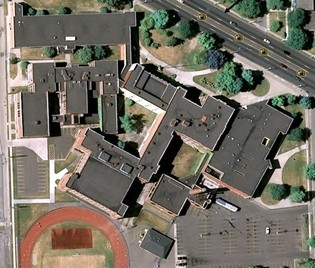 Arial View Redford High School